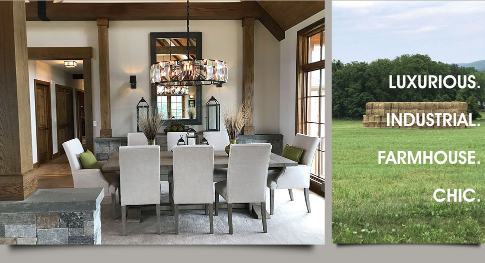 Farmhouse Chic Dining Room Interiors by HOM Interiors
